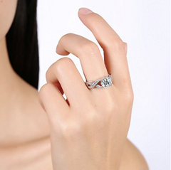Eternity White Gold Luxurious Ring