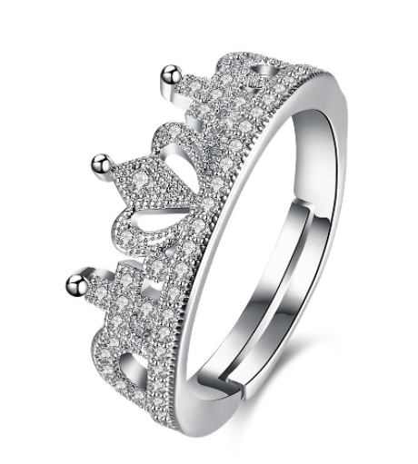 Eternity Diamond Zircon Platinum Plated Ring [Size 8]