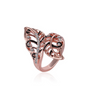 Eterntiy Rose Gold  Vivid Leaves Ring