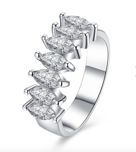 Eternity Diamond:INALIS Platinum Rhinestones  Finger Rings