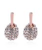 ETERNITY ROSE GOLD Rhinestoned Oval Drop Earrings