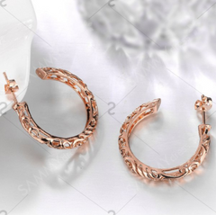 ETERNITY ROSE GOLD Hollow Out Round Earrings