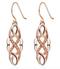 ETERNITY ROSE GOLD Rhinestone Hollowed Cirrus Drop Earrings