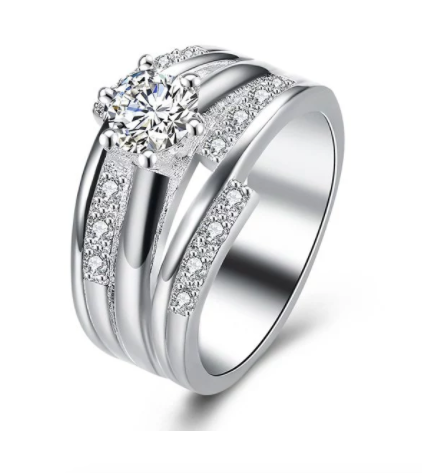 Eternity Diamond Rhinestone Layered Ring