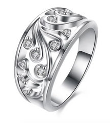 Eternity Diamond Hollow Out Rhinestoned Ring