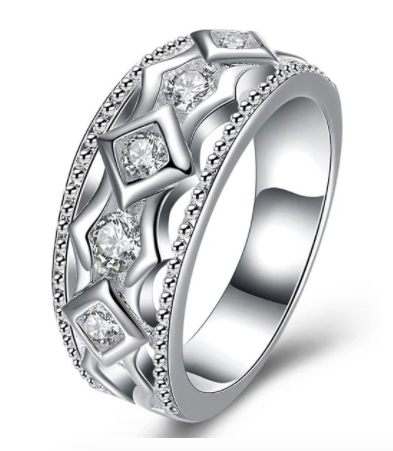 Eternity Diamond Rhinestone Geometric Shaped Ring