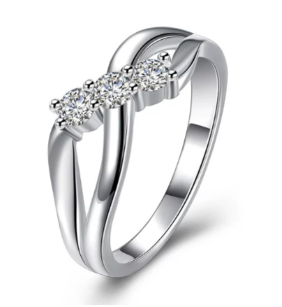 Eternity Diamond Rhinestone Infinite Shaped Ring
