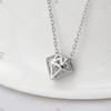 Eternity Rhinestone Diamond Shape Collarbone Necklace