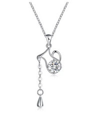 Eternity Rhinestone Kettle Teardrop Chain Necklace