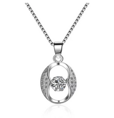 Eternity Rhinestone Openwork Round Necklace