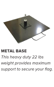 Flag Accessories - Metal Base