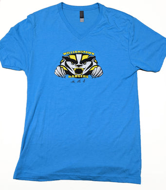 Badgers - Ladies Blue V-neck Tshirt