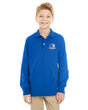 Cumberland Christian - Youth Long Sleeve Polo