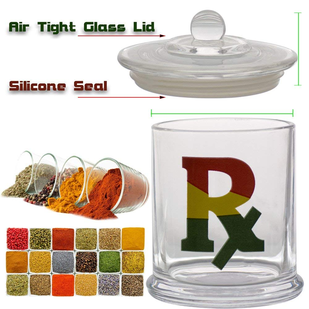 Vapors & Things Clear Glass Odorless Medical Herb Jar Stash Containers