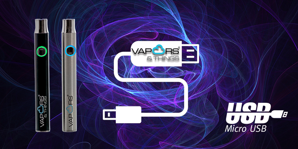 Battery Arrivals! Vapors & Things 400mAh 510 Thread Micro USB Adjustable Slim Battery