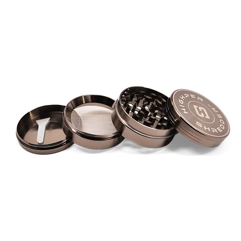 "vaporsandthings.com:10pk 1.5"" Zinc Alloy Grinder, 4 part, Gunmetal"