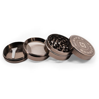 "vaporsandthings.com:10pk 2.0"" Zinc Alloy Grinder, 4 part, Gunmetal"