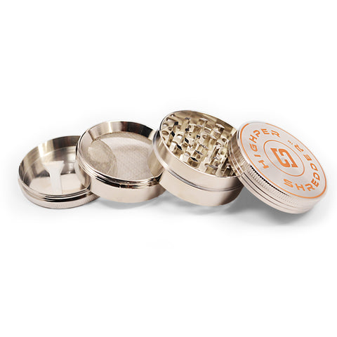 "vaporsandthings.com:10pk 2.0"" Zinc Alloy Grinder, 4 part, Silver"