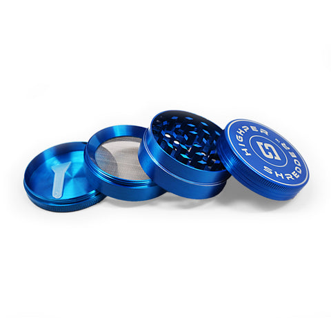 "vaporsandthings.com:2.0"" Highper Shredder Zinc Alloy Grinder, 4 part, Blue"