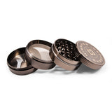 "vaporsandthings.com:10pk 2.2"" Zinc Alloy Grinder, 4 part, Gunmetal"