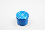 "vaporsandthings.com:10 pk 2.2"" Zinc Alloy Grinder, 4 part, Blue"