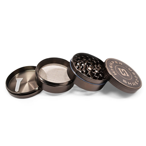 "vaporsandthings.com:10pk 2.4"" Zinc Alloy Grinder, 4 part, Gunmetal"