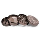 "vaporsandthings.com:10pk 2.5"" Zinc Alloy Grinder, 4 part, Gunmetal"