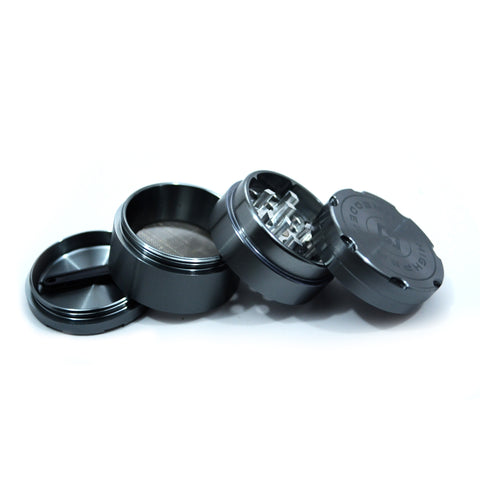 "vaporsandthings.com:6pk 1.5"" Aluminum Grinder, 4 part, Gunmetal"