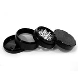 "vaporsandthings.com:6pk 2.2"" Aluminum Grinder, 4 part, Black"