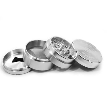 "vaporsandthings.com:2.2"" Highper Shredder Aluminum Grinder, 4 part, Silver"