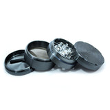 "vaporsandthings.com:2.2"" Highper Shredder Aluminum Grinder, 4 part, Gunmetal"