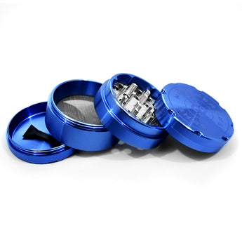 "vaporsandthings.com:6pk 2.2"" Aluminum Grinder, 4 part, Blue"