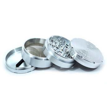 "vaporsandthings.com:2.5"" Highper Shredder Aluminum Grinder, 4 part, Silver"