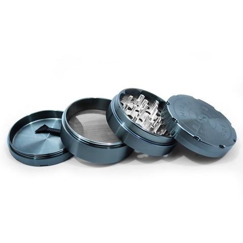 "vaporsandthings.com:6pk 2.5"" Aluminum Grinder, 4 part, Gunmetal"