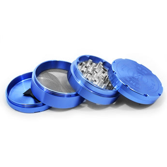 "vaporsandthings.com:6pk Highper Shredder 2.5"" Aluminum Grinder, 4 part, Blue"
