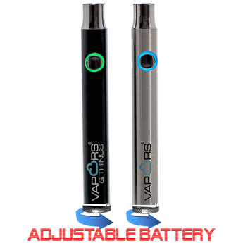 vaporsandthings.com:Vapors & Things 400mAh Adjustable With Dial Slim Twist Battery 510 Thread