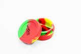 vaporsandthings.com:Vapors & Things 1.7in Rasta Round Silicone Container