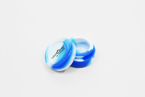 vaporsandthings.com:Vapors & Things 1.3in Blue Tie-Dye Round Silicone Container