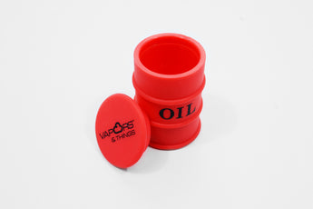 vaporsandthings.com:Vapors & Things 1.6in Red Oil Drum Silicone Container