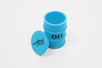 vaporsandthings.com:Vapors & Things 1.6in Blue Oil Drum Silicone Container