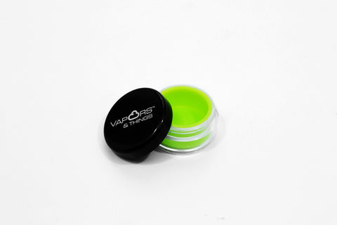 vaporsandthings.com:Vapors & Things 1.2in Green Silicone Lined Acrylic Container