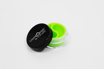 vaporsandthings.com:Vapors & Things 1.5in 2 Chamber Green Silicone Lined Acrylic Container