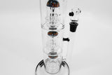 vaporsandthings.com:15.7″ Black Dry Herb Bubbler w. 3 Double Showerheads