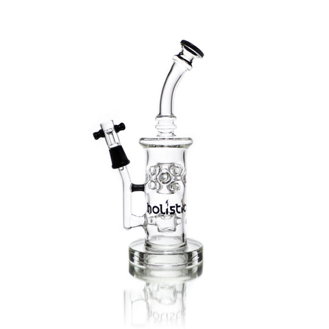 vaporsandthings.com:Holistic Fixed Cup Perc & Splash Guard. Bent Mouthpiece. Bubbler.