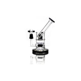 vaporsandthings.com:Holistic 7 inch Bubbler with Dual Perc & Sidecar Mouthpiece Black