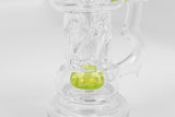 vaporsandthings.com:Holistic Beer Mug Bubbler With Showerhead Perc. Bent Straw Mouthpiece. Slyme.