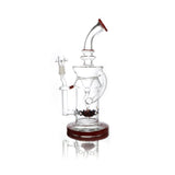 vaporsandthings.com:Red Holistic Fixed Single Showerhead. Curved mouthpiece. Recycler.