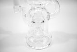 vaporsandthings.com:Holistic Dry Herb Recycler with Hourglass Perc. Clear