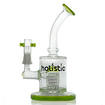 vaporsandthings.com:Holistic Bubbler with Stacked Perc. Bent Mouthpiece. Slyme