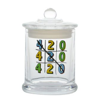 vaporsandthings.com:Tic-Tac-Toe 420 Glass Jar